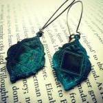 Bohemian earrings in Verdig..