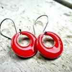 Lady in red. Red Enameled a..